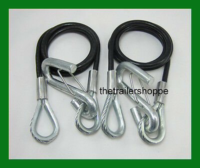 Coiled Safety Cables Trailer 40 3500 lb- Replace Chains