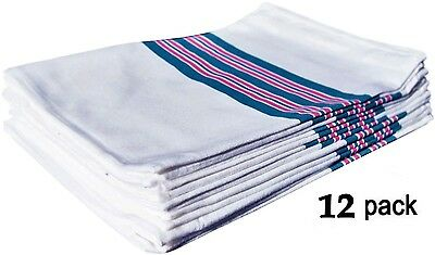 12 NEW BABY INFANT RECEIVING SWADDLING HOSPITAL BLANKETS LARGE 30X40 STRIPED
