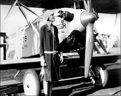 Amelia Earhart Photo 8X10 - Posing By Plane 1928 - Buy Any 2 Get 1 Free