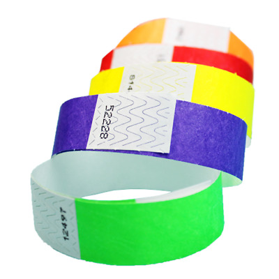 34 Tyvek Wristbands Choose Your Color 100ct 500ct or 1000ct