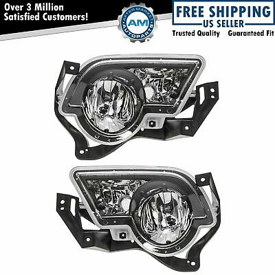 Fog Driving Lights Lamps Left - Right Pair Set for 02-06 Avalanche Pickup Truck
