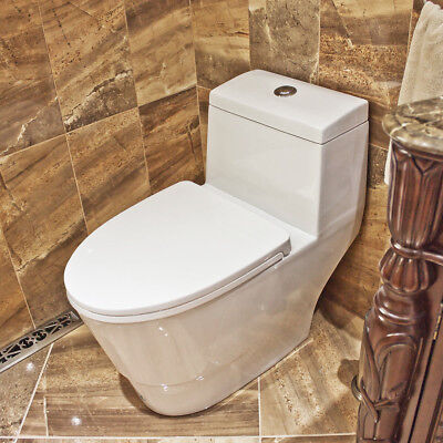 Toilet Ceramic White LT3 with Dual Flushing System Soft-Close One Piece Modern