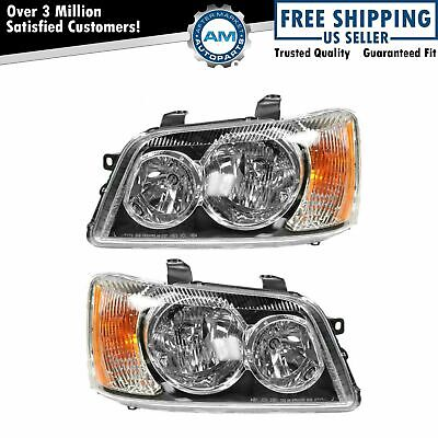 Headlights Headlamps Left - Right Pair Set NEW for 01-03 Toyota Highlander
