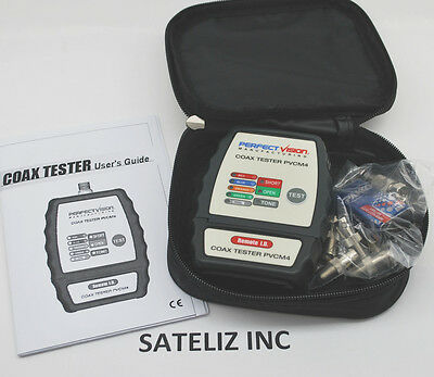 COAX 4 ROOMS CABLE TONER TESTER TRACKER MAPPER CATV W CASE PERFECT VISION PVCM4