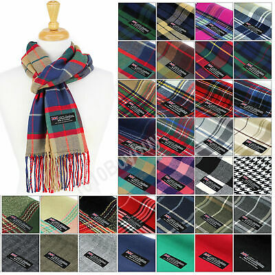 Men And Women Scarf Plaid 100 Cashmere Made Scotland Classic Soft Winter