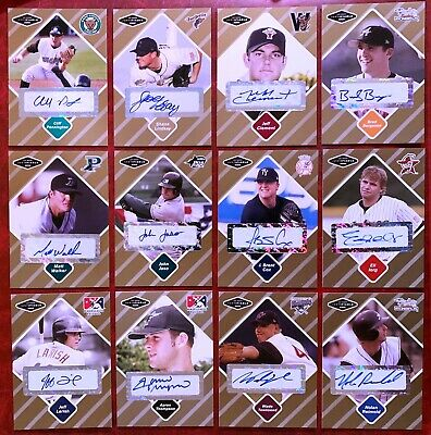 JUST MINORS Certified Baseball Card AUTOGRAPH all Numbered xx50 - YOU PICK IT