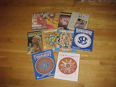 1980-92 SEC Tournament Basketball Program Lot 10