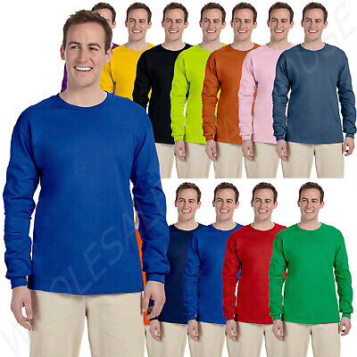 Gildan Adult Ultra Heavy 6-0 oz 100 Cotton Long Sleeve S-5XL T-Shirt M-G240