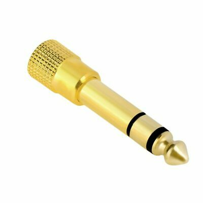 6-3mm 14 Male plug to 3-5mm 18 Female Jack Stereo Headphone Audio Adapter