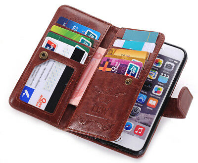 PU Leather Women Men Handbag Card Wallet Clutch Phone Case For iPhone 6 6plus 5s