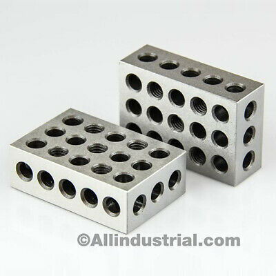 1 Matched Pair Ultra Precision 1-2-3 Blocks 23 Holes -0001 Machinist 123 Jig