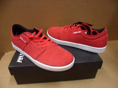 Supra Mens Stacks Red  White Terry Kennedy Skateboarding Shoes