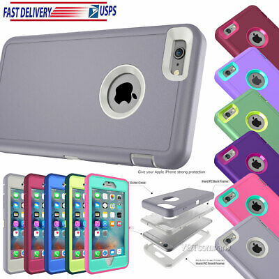 Protective Hybrid Shockproof Hard Case Cover For Apple iPhone X 7 8 66S Plus