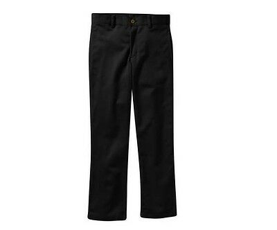 George Boys Straight Fit Flat Front Twill Black Uniform Pants Many Sizes