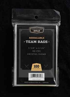 200 2 Packs CBG Premium Resealable Ultra Team Bags Toploader Sleeves Pro - New