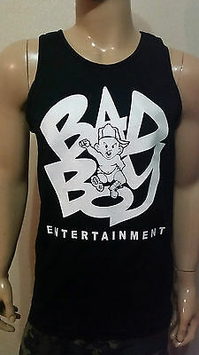 Bad Boy Entertainment  Black- Tank Top - P Diddy Biggie Smalls The Notorious big