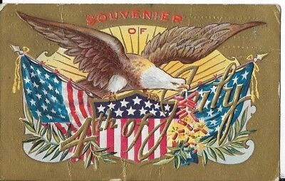 FOURTH OF JULY POSTCARD  CIRCA 1911