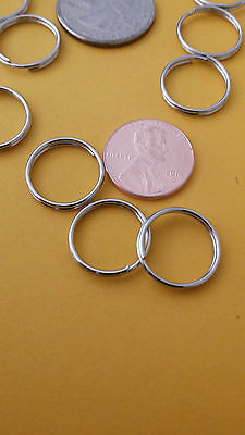 WHOLESALE LOT 1 Through 5000 NEW KEY RING 16mm0-7 DIAMETER SPLIT RING SILVER