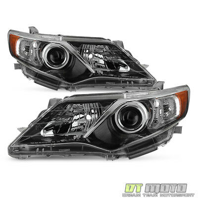 For 2012-2014 Toyota Camry SE Style Projector blk Headlights lamps Left-Right