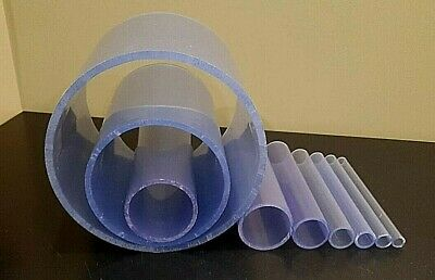Any Size Diameter Clear PVC Pipe 12-12 Inch 1-5 foot length