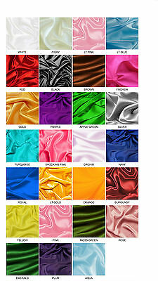 BRIDAL SATIN FABRIC 60X20yds Wedding Dress Party Favor Decoration Table Covers