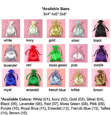 5x8 PREMIUM QUALITY SATIN POUCH-30pk Wedding Party Favor Gift Candy Bag-