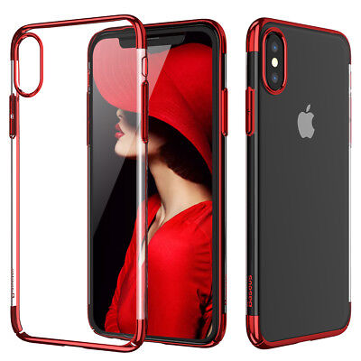 For Apple iPhone X87 Plus Ultra Thin Transparent Clear Shockproof Bumper Case