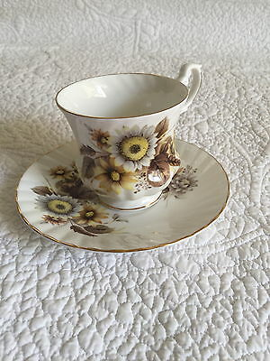 Royal Dover Fine Bone China Tea Cup and Saucer