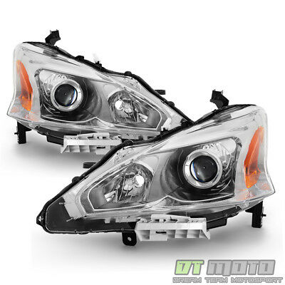 For 2013 2014 2015 Altima Sedan Projector Headlights Headlamps 13-15 Left-Right