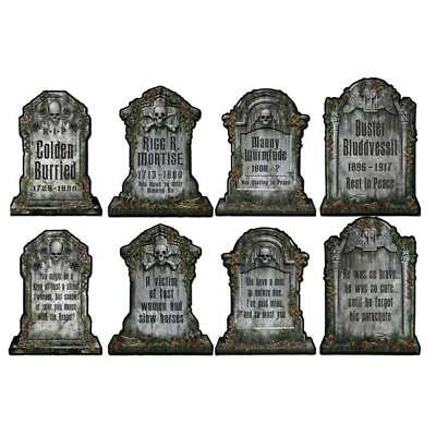 Halloween Tombstone Wall Cutouts 4 Pack Halloween Party Decorations - Supplies