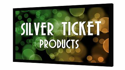 STR-169100 Silver Ticket 100 Fixed Frame 169 Projector Screen White Material
