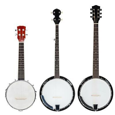 New 456 String Banjo High Quality with Closed Back Brackets Head - Maple Neck