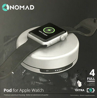 Genuine Nomad Charging Pod for Apple Watch - pod-apple-s-001 - Silver - NO