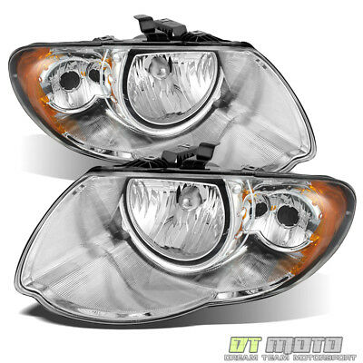 2005-2007 Chrysler Town - Country Replacement Headlights Headlamps Left-Right