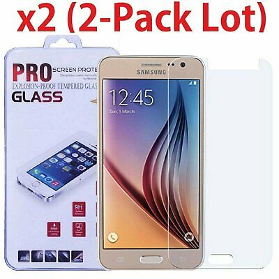 2-Pack Premium Tempered Glass Screen Protector Film For Samsung Galaxy J3 2016