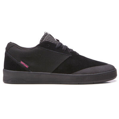Supra x Lucien Clarke Shifter Shoes Black Mens Suede 3M Skateboard Sneakers