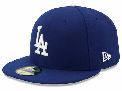 New Era 59Fifty Los Angeles LA Dodgers Game Fitted Hat Dark Royal MLB Cap