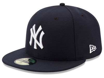 New Era 59Fifty New York NY Yankees 2017 Game Fitted Hat Dark Navy MLB Cap