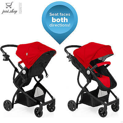 urbini omni 3 in 1 travel system baby stroller and car seat combo red