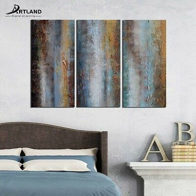 Abstract Canvas Wall Art Set Framed Hand-painted Modern Oil Painting 24x36 3PC