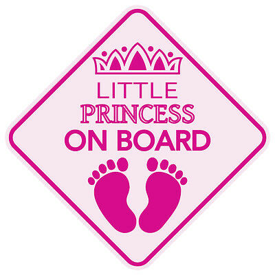 LITTLE PRINCESS ON BOARD Baby Car Sign 5x5 Sticker Decal Buy 2 Get 3rd FREE