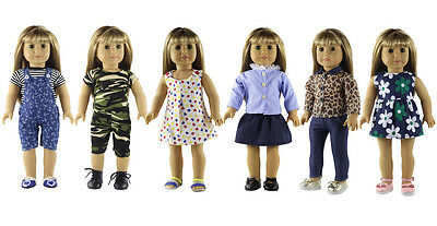 6 New Style Doll Clothes FOR 18 American Girl Handmade Princess Dress Outfit