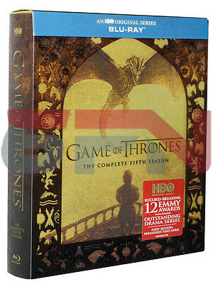 Game of Thrones The Complete Fifth Season 5 Blu-ray 2016 4-Disc Set New