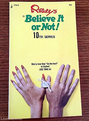 Vintage Ripleys Believe It Or Not Paperback Book 10th Series