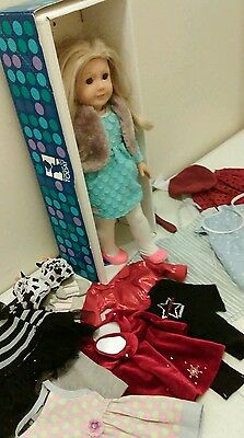 AMERICAN GIRL PLEASANT COMPANY GIRL OF THE YEAR Kailey Doll Lot with clothes