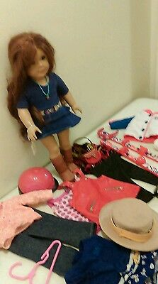 AMERICAN GIRL PLEASANT COMPANY GIRL OF THE YEAR Sage Doll Lot with clothes