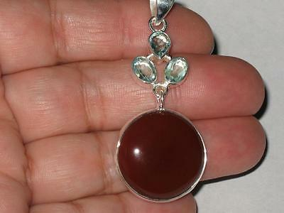 Carnelian Gem Pendant 925 Witch Estate WEIGHT LOSS GOOD HEALTH PHYSICAL ENERGY