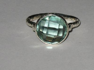 Blue Topaz Ring 925 8 Witch Estate GOOD FORTUNE LUCK HEALTH WEALTH HAPPINESS