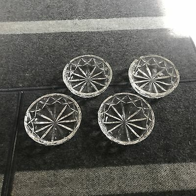 SET of 4 SUPERB 3 12 Waterford CUT CRYSTAL GIFTWARE COASTERS All Purpose EXLNT