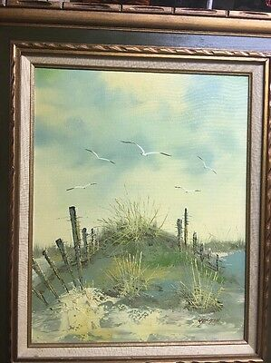 Signed Morgan OILCANVAS PAINTING 16 X 20 Canvas Beautifully Framed Seascape